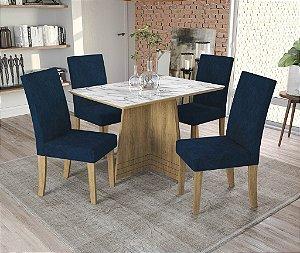 Conjunto de Mesa Lótus 4 Cadeiras D008 - Kappesberg