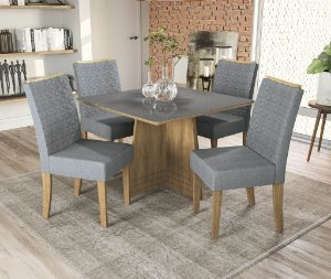 Conjunto de Mesa Lótus 4 Cadeiras A018 - Kappesberg