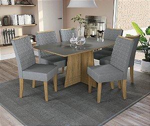Conjunto de Mesa Lótus 6 Cadeiras