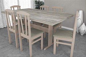 Conjunto de Mesa Luna 06 Cadeiras Plus