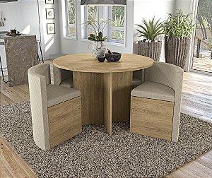 Conjunto de Mesa Nirá 4 Cadeiras A021 - Kappesberg