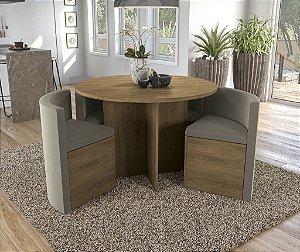 Conjunto de Mesa Nirá 4 Cadeiras A016 - Kappesberg