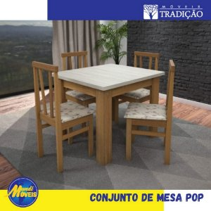 Conjunto de Mesa POP 4 cadeiras