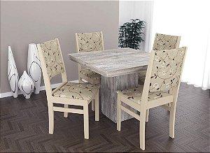 Conjunto de Mesa Quadrada 04 Cadeiras Itália