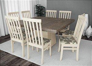 Conjunto de Mesa Quarada 08 Cadeiras Classic