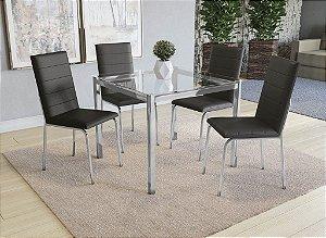 Conjunto de Mesa Reno 04 Cadeiras Amsterdã - CR110