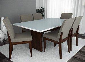 Conjunto de Mesa Roma 06 Cadeiras Grécia