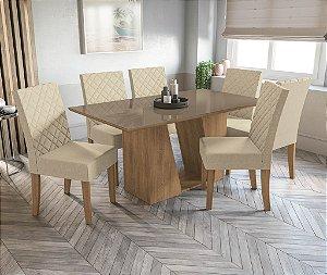 Conjunto de Mesa Roma 6 Cadeiras A019 - Kappesberg