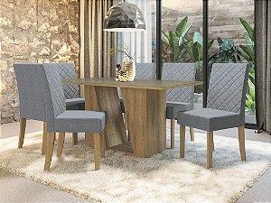 Conjunto de Mesa Roma 6 Cadeiras A018 - Kappesberg