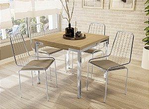 Conjunto de Mesa Shire 04 Cadeiras Benim - CR31