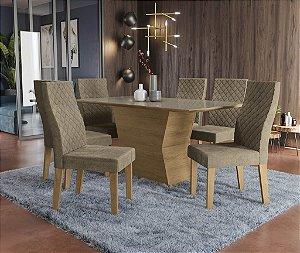 Conjunto de Mesa Tília 6 Cadeiras D005 - Kappesberg