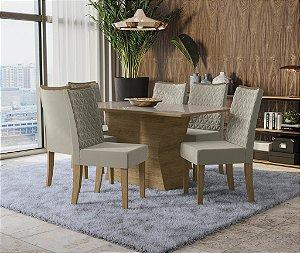 Conjunto de Mesa Tília 6 Cadeiras A016 - Kappesberg