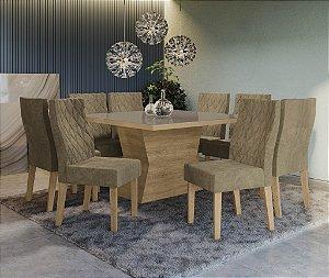 Conjunto de Mesa Tília 8 Cadeiras D005 - Kappesberg