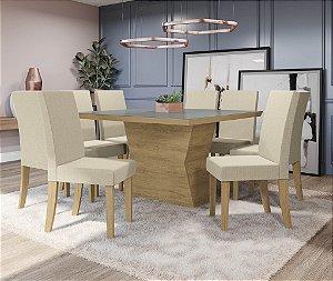 Conjunto de Mesa Tília 8 Cadeiras A019 - Kappesberg