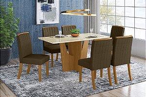 Conjunto de Mesa Vértice 6 cadeiras