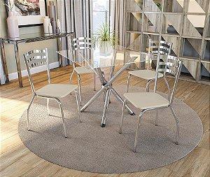 Conjunto de Mesa Volga 04 Cadeiras Portugal - CR16