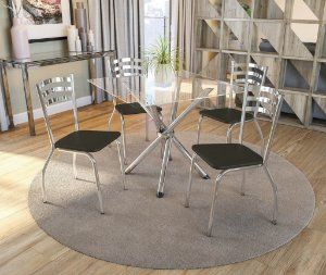 Conjunto de Mesa Volga 04 Cadeiras Portugal - CR21