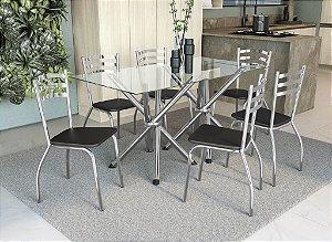 Conjunto de Mesa Volga 06 Cadeiras Portugal - CR110