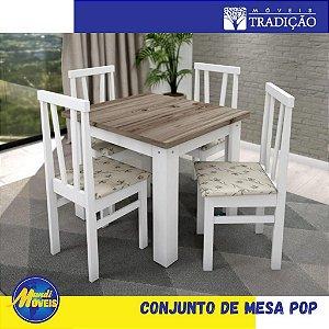 Conjunto Mesa POP 4 cadeiras