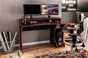 Escrivaninha Gamer Fremont - Preto / Vermelho