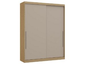Guarda Roupa 2 Portas de Correr Premium Elegance 4222A - Angelin / Níquel