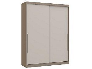 Guarda Roupa 2 Portas de Correr Premium Elegance 4222A - Níquel / Blanc