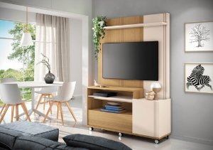 Home Theater Timber - Freijó / Off white