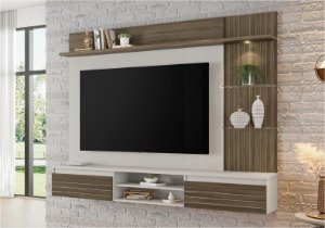 Painel NT1160 Cor: Off white / Nogal Trend