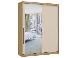 Guarda Roupa 2 Portas de Correr Premium Elegance 4222A - Angelin / Blanc com espelho