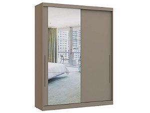 Guarda Roupa 2 Portas de Correr Premium Elegance 4222A - Níquel com espelho