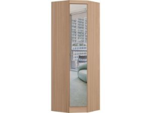 Módulo Canto Oblíquo Infinity 3805 - Nogueira com espelho