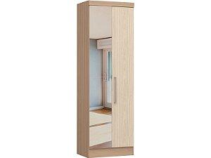 Módulo 2 Portas Infinity 3820A - Nogueira / Nudi  com espelho