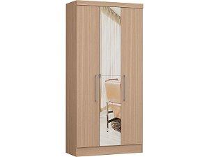 Módulo 3 Portas Infinity 3830A - Nogueira  com espelho