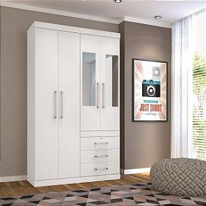 Guarda Roupa Plus 4.3 com Espelho - Branco - Santos Andirá