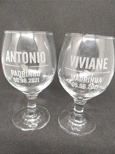 Taça de Vinho Personalizada - 250 ml