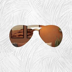 Óculos - Produzido em acrílico espelhado