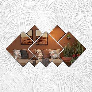 Geométricos Quadrados - Produzido em acrílico espelhado.
