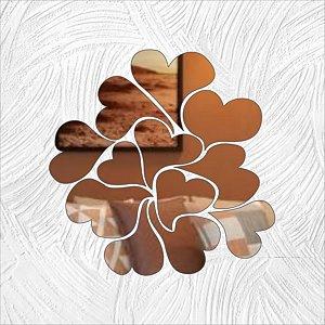 Corações em Forma - Produzido em acrílico espelhado