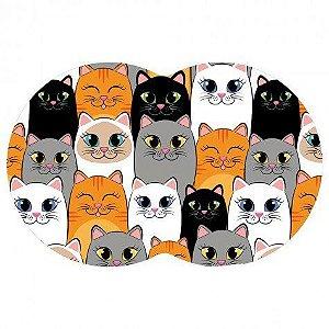 Tapete Pet Gatos - Colorido 54X39cm