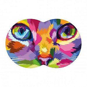 Tapete Pet Gato - Colorido 54X39cm