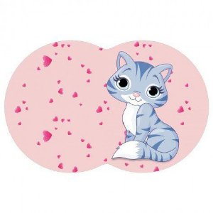 Tapete Pet Gato - Rosa 54X39cm
