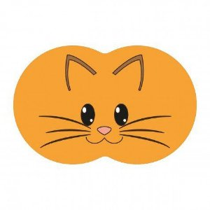 Tapete Pet Gato - Laranja 54X39cm