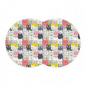 Tapete Pet Gatinhos - Color 54X39cm