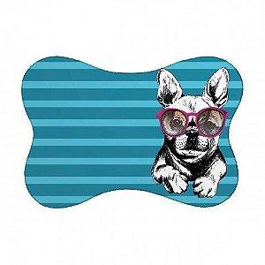 Tapete Pet Bulldog - Turquesa 46X33cm