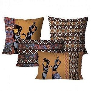 Kit com 4 Almofadas Africanas