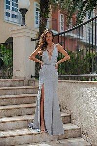 Vestido Longo Meg Prata