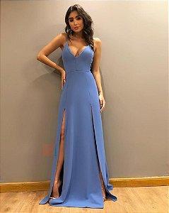 Vestido Longo Ibiza Azul