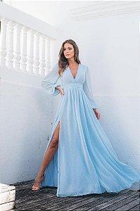Vestido Longo Fabi Azul