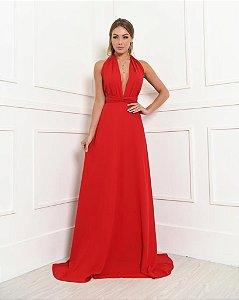 Vestido Longo Mikonos Vermelho