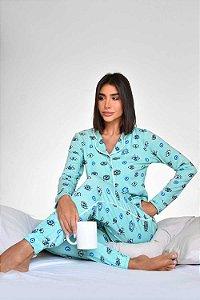 Pijama Eyes Azul